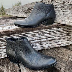 Sam Edelman Petty Black Ankle Booties pebble